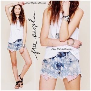 Free People bleached exposed pocket cut offs